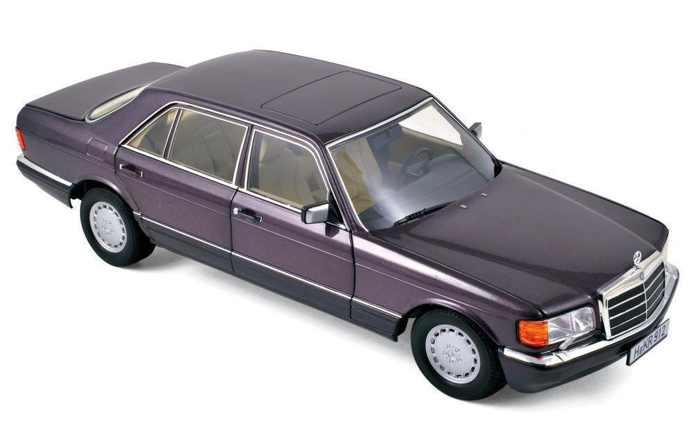 Mercedes - benz 560 sel w126 18 s-klasse limousine bornit metallic - lmtd