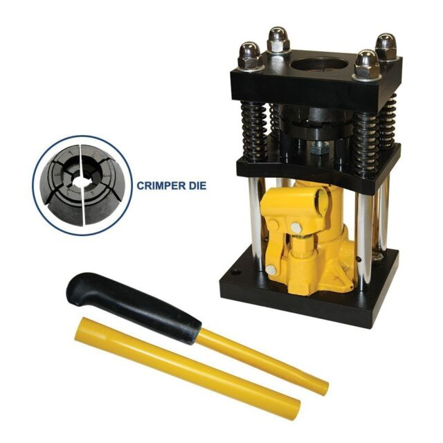 "Manual Benchtop Hydraulic Bottle Jack Hose Crimper - 3/8"" to 1/2"" - H10-6-R"