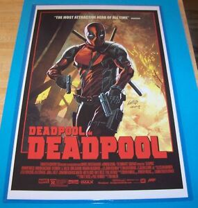 deadpool 11x17 movie poster the most attractive hero of all time ebay