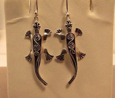 Cute Alligator 925 Sterling Sliver Dangle Hook Earrings
