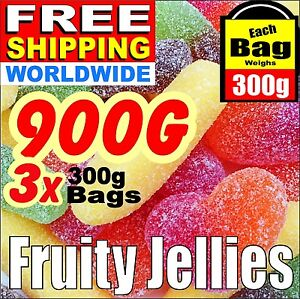 900g-2-Lbs-FRUITY-JELLIES-Birthday-Candy-Sweets-Present-Free-Ship-Worldwide