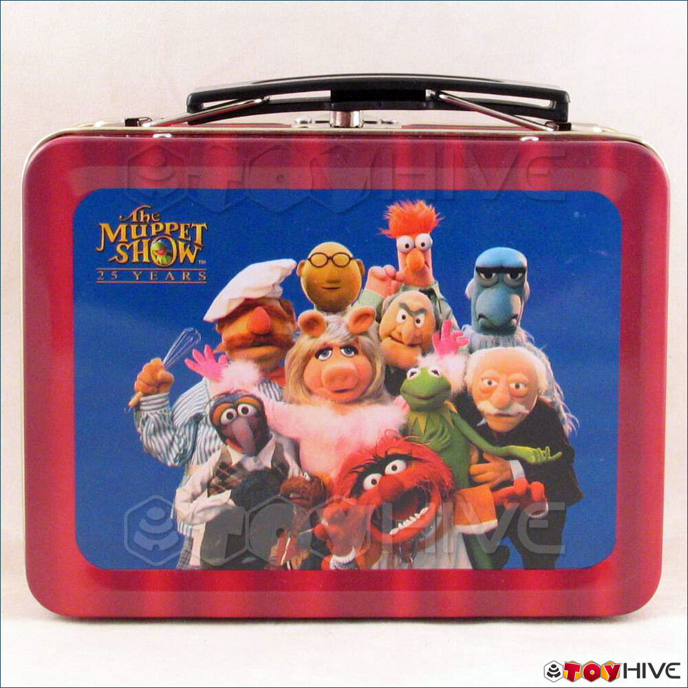 Muppets Palisades Kermit Kermit Kermit 2002 Wizard World East Exclusive mini Lunchbox Tin 798abe