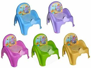 Toepfchen-Musiktoepfchen-Toilettentrainer-Safari-mit-Musik-Betteinlage-neu