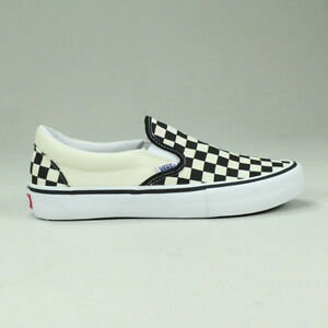 Image is loading Vans-Pro-Slip-On-Checkerboard-Black-White-Trainers- cbe6c36f1