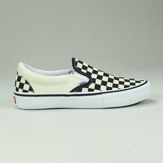 Vans Pro Slip-On Checkerboard Black/White Trainers Sizes UK  4,5,6,7,8,9,10,11,12