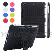 Hybrid Heavy Duty Hard Plastic/Soft Silicone Case with Stand for iPad Mini 1 2 3