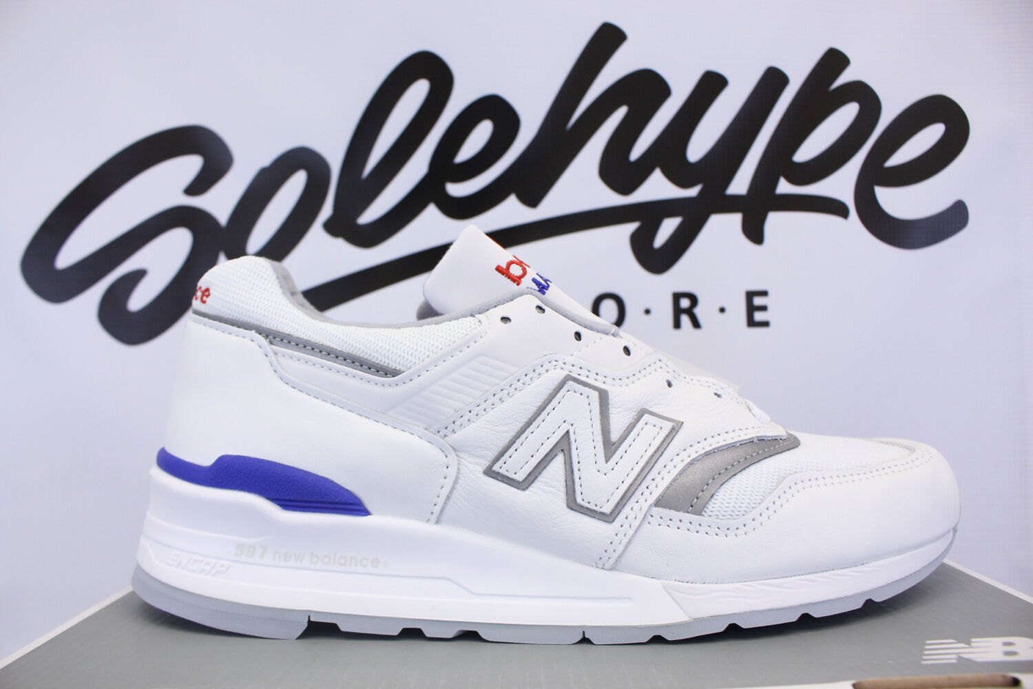 NEW BALANCE 997 BASEBALL PACK WHITE BLUE MADE IN USA M997CHP SZ 10.5