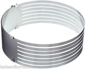 Kitchen-Craft-gateau-6-couche-reglable-en-acier-inoxydable-guide-Coupe-Tronconneuse-amp