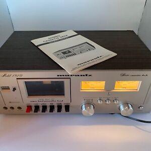 Vintage-Marantz-Model-1810-Dolby-Stereo-Cassette-Deck-Japan-OWNERS-MANUAL-SPECS