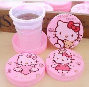 new-Hello-Kitty-girls-brand-new-folding-water-bottle-best-gift