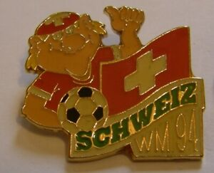 WORLD-CUP-94-USA-SOCCER-SWITZERLAND-Limited-Edition-500-vintage-pin-badge-Z8J
