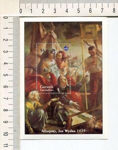 36795) Grenada Gren. 1993 MNH Polska 93 S/S Allegory, Jan