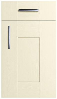 Cartmel white woodgrain replacement shaker kitchen door and drawer fronts