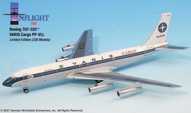 Inflight 200 VARIG Brésil Cargo PP-VLL 707-320 échelle 1 200 Diecast Comme neuf IN BOX