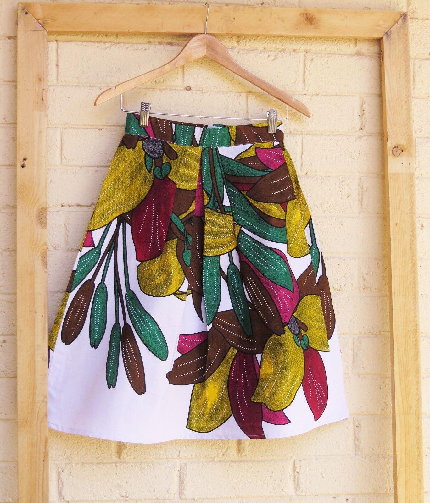 Keeya Womens Multicoloured Pleated Midi Skirt
