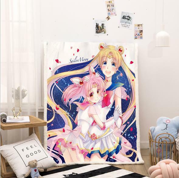 Sailor moon Anime Manga Kuscheldecke Sofadecke Wohndecke Decke blanket Polyester