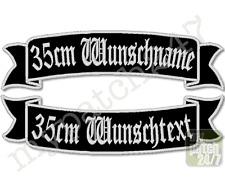 Rückenpatch Aufnäher Schwinge V1 SET 35cm Wunschtext Name MC Biker Rocker Kutte