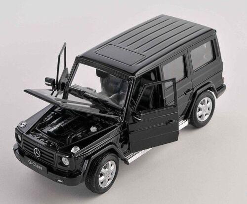 Spedizione LAMPO MERCEDES G-CLASS NERO//BLACK Welly Modello Auto 1:24 NUOVO /& OVP