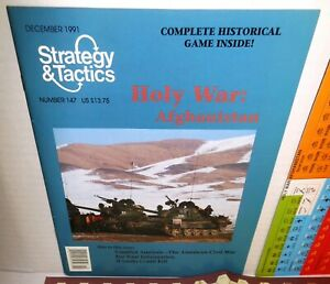 Strategy-amp-Tactics-Mag-w-Game-147-Holy-War-Afghanistan-op-UNP-USSR-In-80s