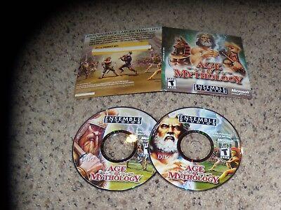 Age Of Mythology (pc, 2002) Near Mint Game Verpakking Van Genomineerd Merk
