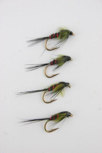 X5 /& X24 Diawl Bach Nymphs Selections Trout Fishing flies X4 Free Handy Box