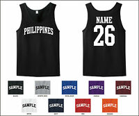 Country Of Philippines Custom Personalized Name & Number Tank Top Jersey T-shirt