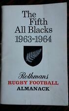 082 il quinto All Blacks 1963-1964 RUGBY FOOTBALL Almanacco sponsorizzato da ROTHMANS