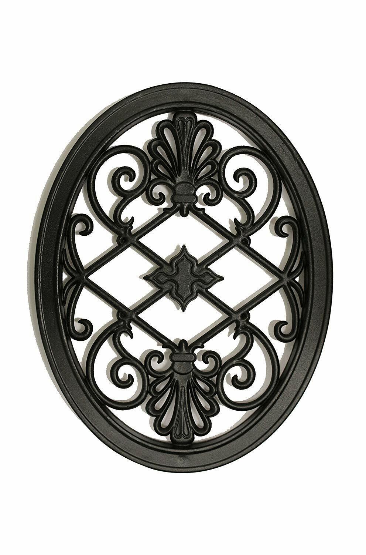 Nuvo Hierro Oval insertar Decorativo para esgrima, Portones, hogar, jardín, ACW56