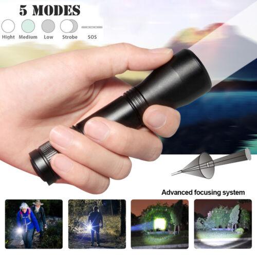 Puissant milatry tactique torche lampe de poche Zoom 3000 lm 5 modes de Vision Nocturne Chasse