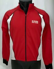 Gore Bike Wear Jacket Soft Shell Zip Off Lightweight Coat Red White Black  Mens L e95a5b47c