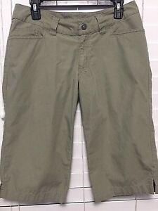 Patagonia-Womens-Bermuda-Shorts-Size-6-Khaki-Tan-Outdoors-Hiking-Organic-Cotton