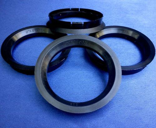 Z29 4 x anelli di centraggio reduzierringe 76,0 mm 63,4 mm NERO per CERCHI IN LEGA 153