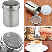 Stainless Shaker Dredge Lcing Sugar Powder Cocoa Flour Coffee Salt Pepper Herbs