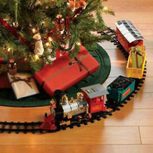 Christmas Tree Train.Details About Christmas Under Tree Classic Express Train Set Traditional Uk Xmas Decoration