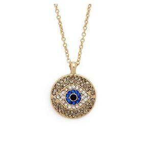Beautiful rhinestone crystal evil eye pendant necklace all seeing image is loading beautiful rhinestone crystal evil eye pendant necklace all mozeypictures Gallery