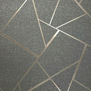 Triangle-Geometric-lines-wallpaper-gray-bronze-metallic-Textured-wall-coverings
