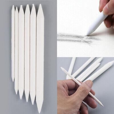White Blending Smudge Stump Stick Tortillon Set of 6 Art Charcoal Pastel Pencil