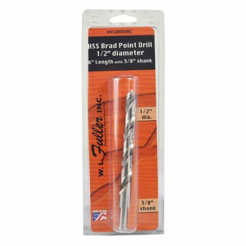 Big Horn 18972 1//2 Inch Diameter Brad Point Drill Bit W L Fuller 25100500