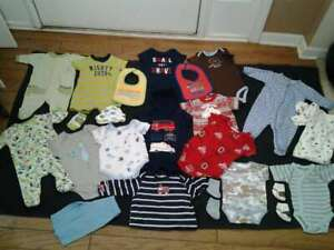 Baby Boy Size 0 3 Months 3 6 Months Clothes Lot Carter S Gerber Little Me Ebay