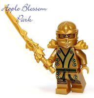 Lego Ninjago Green & Gold Ninja Minifig -lloyd Minifigure Dragon Sword 70505