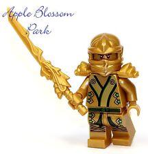 NEW Lego Ninjago Green & GOLD NINJA MINIFIG -Lloyd Minifigure Dragon Sword 70505