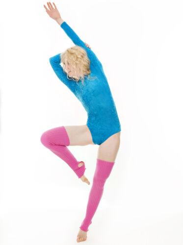 Girls Childs Dance Gymnastics Velour Velvet Long Sleeve Leotard KDGV018 By Katz