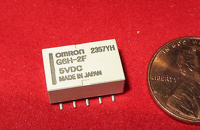 10 pcs- OMRON G6H-2F Relay 5V DC 1A DPDT Non Latching H Surface Mount 125 VAC