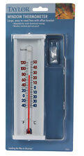 """Taylor 5316 Window Thermometer With Bracket, 8"""", White"""