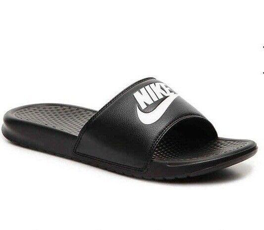 2d1b966fc08dd Nike Mens Benassi JDI Slides White Black Sz14 343880 100 for sale online |  eBay