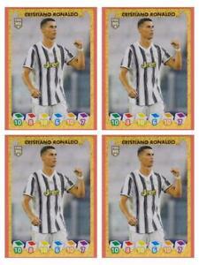 4 X Cristiano Ronaldo CR7 Sticker Panini Fifa 365 2020 2021 #271 Invest