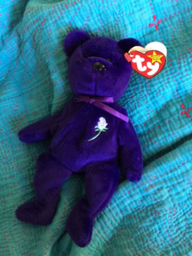 PVC Rare ~ TY Collectibles ~ Retired Princess Diana Beanie Baby ~ Bear ~ China