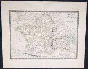 1821-Adrien-Brue-Large-Antique-Map-of-France