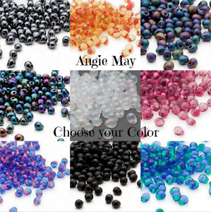 Miyuki 4x3 4mm Fringe Glass Seed Beads Made In Japan Pick Your Color 25 Grams Ebay