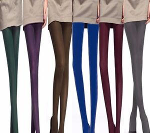 eda165bd05e4d Image is loading Quality-Warm-Winter-Funky-Tights -Opaque-PANTYHOSE-Stockings-